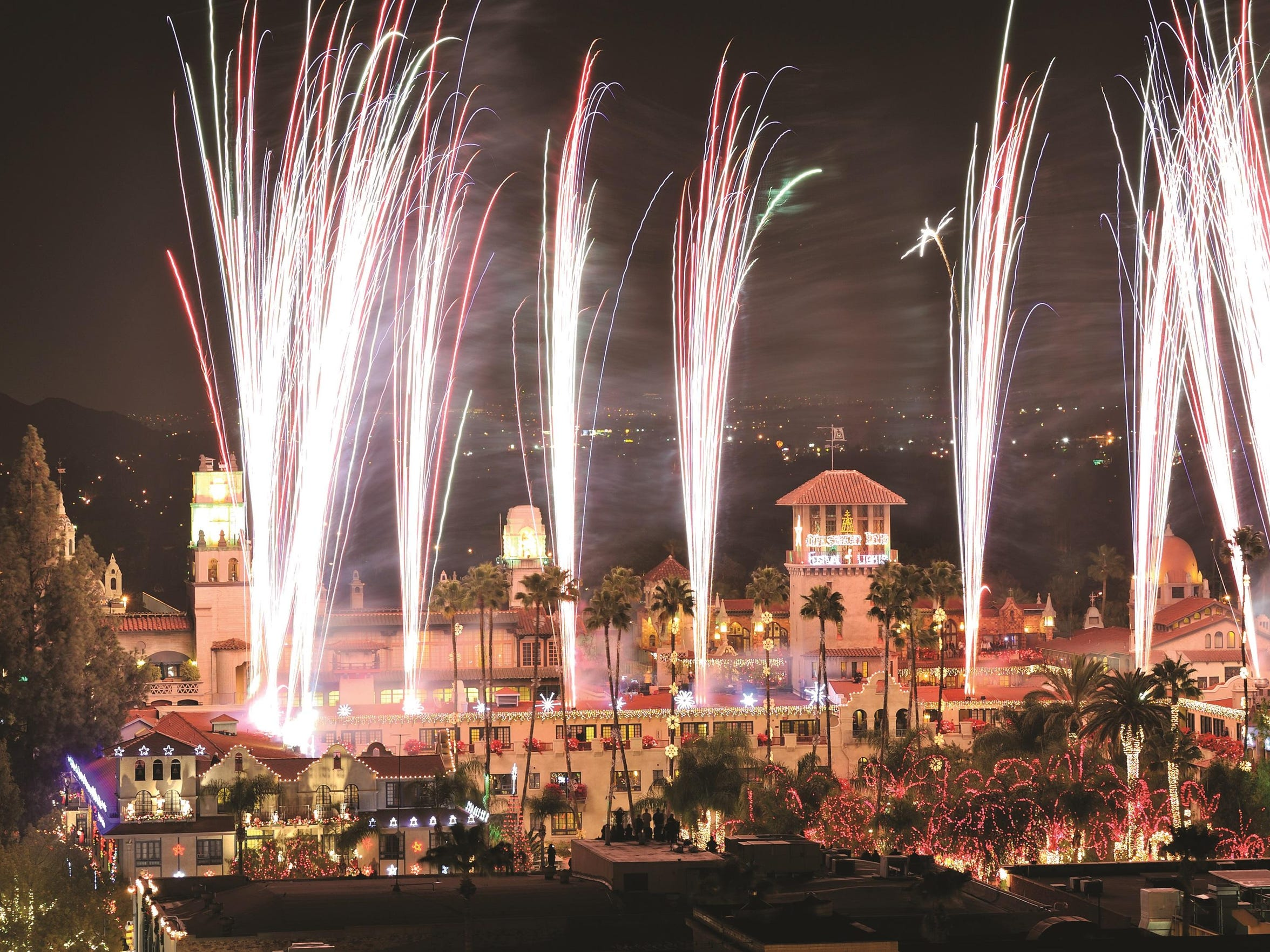 "From Nov. 23 through Jan. 6, the Mission Inn Hotel & Spa will be illuminated with millions of lights in what USA Today named the ""Best Public Lights Display in the Nation."""