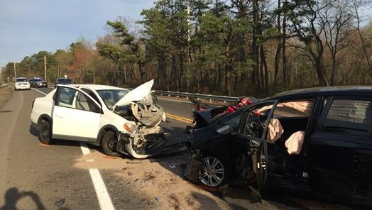 Lakehurst police say this crash on Route 70 left both drivers injured