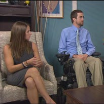 Paralyzed football player wants others to have support