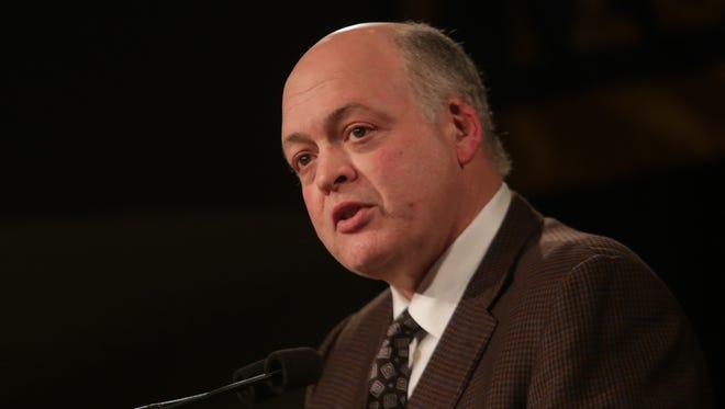 Michigan interim athletic director Jim Hackett