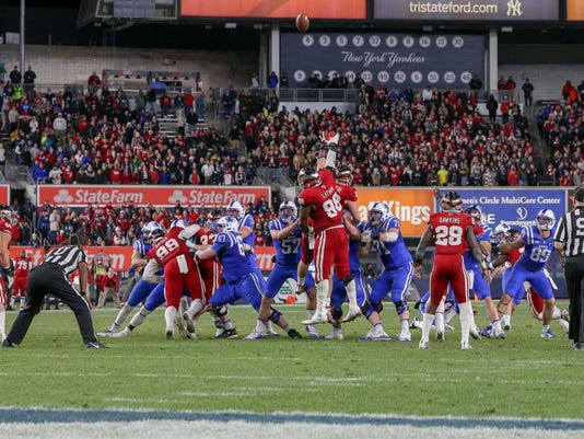 NCAA Football: New Era Pinstripe Bowl- Indiana vs Duke