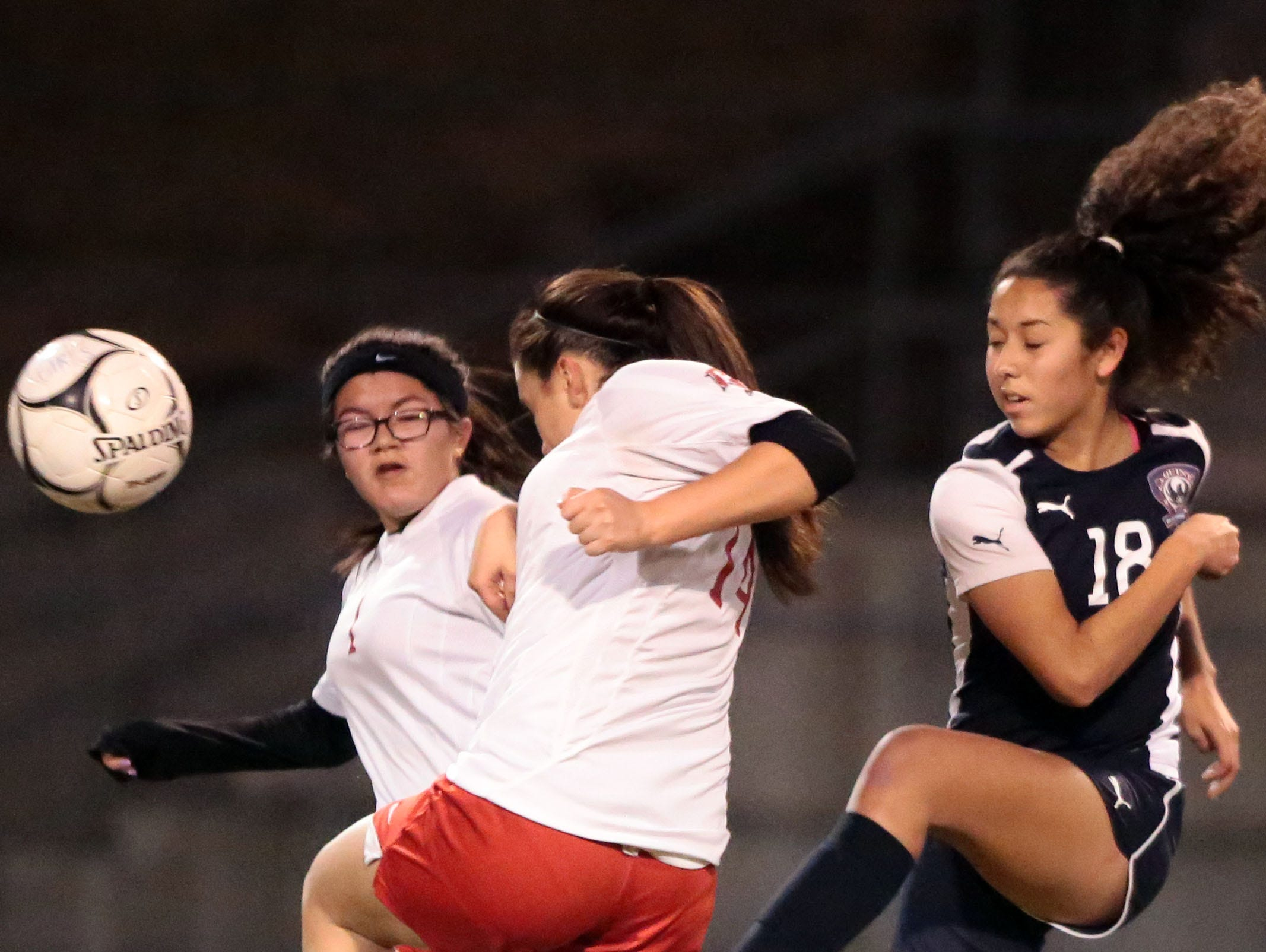 La Quinta and Palm Springs soccer action on Tuesday, January 12, 2016 in Palm Springs