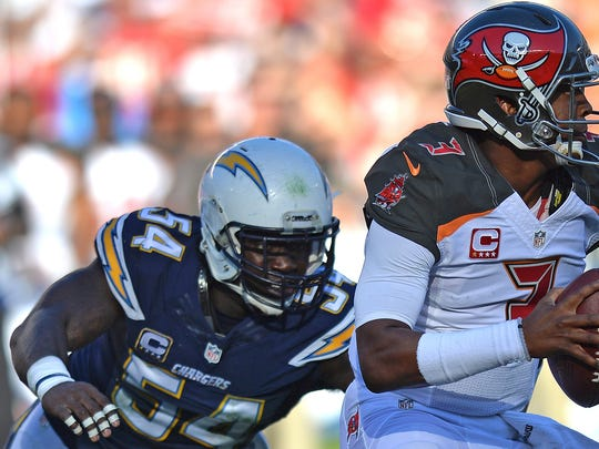 Chargers rush linebacker Melvin Ingram, a soon-to-be-free agent, could be a target for the Colts.