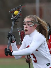 Gabby Rosenzweig, pictured here playing for Somers in 2016, was named an IWLCA Third Team All-American on Wednesday.