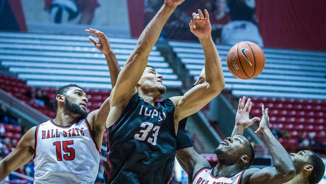 Ball State defeated IUPUI 61-58 at Worthen Arena Tuesday, Dec. 1, 2015.