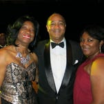State Rep. Barbara Norton, Donald Scott, Lakesha Wilson at Krewe Sobek Grande Ball.