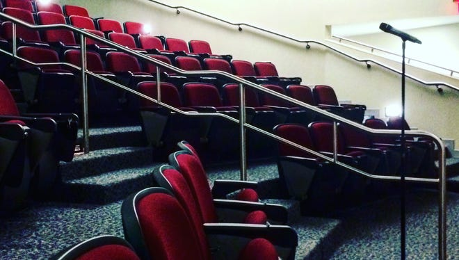 A lecture hall at Camden County College was almost empty Monday. No one showed to testify before the department of education on later start times for teens.