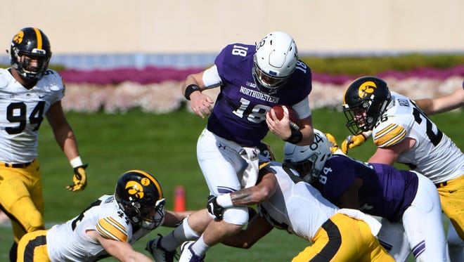 The Iowa defense will likely have to contend one more time with star Northwestern quarterback Clayton Thorson this fall. It's a battle the Hawkeyes can't afford to lose.