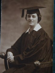 A graduation photo of Adele from 1921.