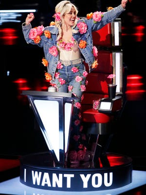 Miley Cyrus on 'The Voice.'