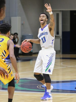 UWF guard Rashaan Benson led the Argos with six assists in Saturday's win over Albanay State.