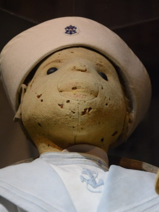 Close up of Robert the Doll