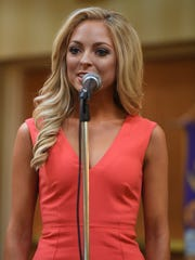 Miss Lexington Caty Davis -- The Jackson Old Hickory Rotary Club and Lions Club welcomed Miss Tennessee 2016 Grace Burgess and the 2017 Miss Tennessee Scholarship Pageant contestants to a luncheon, Monday, June 19.