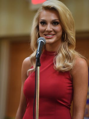 Miss Greene County Hannah Everhart -- The Jackson Old Hickory Rotary Club and Lions Club welcomed Miss Tennessee 2016 Grace Burgess and the 2017 Miss Tennessee Scholarship Pageant contestants to a luncheon, Monday, June 19.