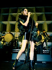 PJ Harvey performs Sunday night in Waterfront Park as part of the Forecastle Festival.