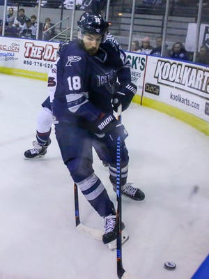 The Ice Flyers Jessyko Bernard assisted on two goals Saturday night as Ice Flyers completed three-game road sweep against last-place Fayetteville