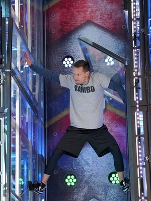 Tempe resident Brian Rambo competes in the American Ninja Warrior competition in Los Angeles.