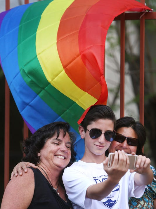 Tucson celebration of Supreme Court's ruling in favor of gay marriage