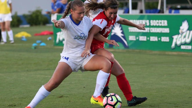 FGCU women's soccer team battled No. 21 Ohio State before falling 1-0 in double-overtime on Sunday.