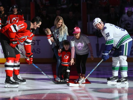 New Jersey Devils center Brian Boyle's family took