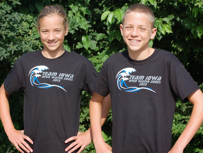 Olivia and Timothy at Open Water Zones 2013 Wisconsin