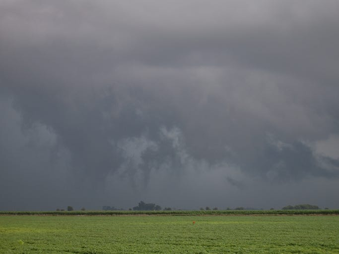 Severe thunderstorms struck north-central Iowa on Sunday, June 29, 2014. These pictures were taken about five miles west of Gowrie.
