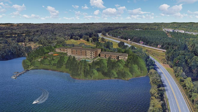 A digital rendering of Lakeside Lodge Clemson shows what the condominium development will look like when it is completed in 2019.