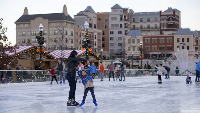 Ice skaters go for a spin at Carmel's Christkindlmarkt on Nov. 29.