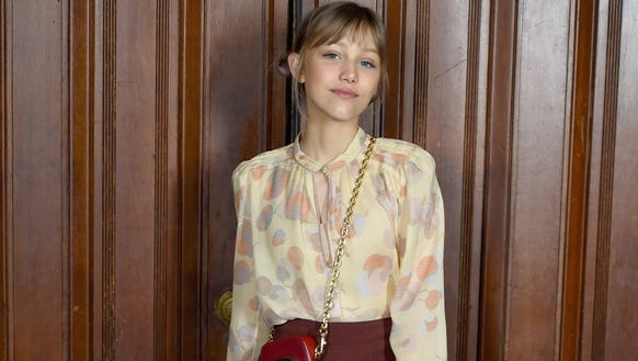 Grace VanderWaal poses before the start of the Marc