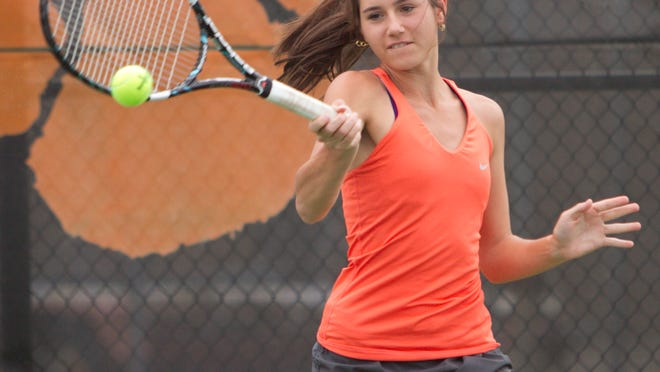 Brighton's Maddie Miller will play in the first round of the Division 1 state tennis tournament today in Midland.