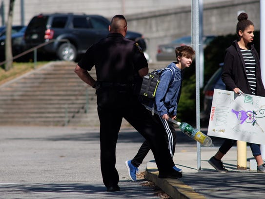 Law enforcement keeps an eye out while students at