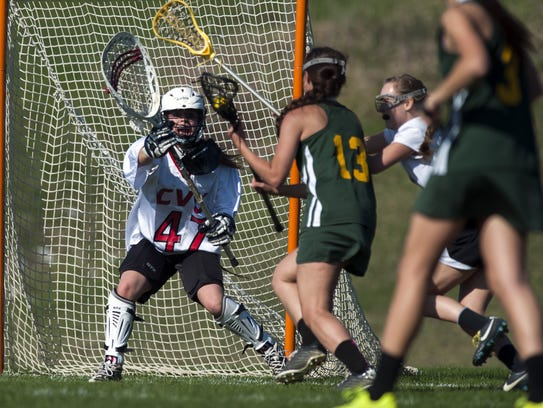 Bailee Pudvar (47) and Champlain Valley head to Mount