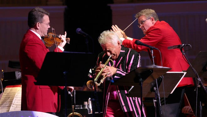 """Trumpeter and """"Tonight Show"""" legend Doc Severinsen played Friday night with the Pops."""