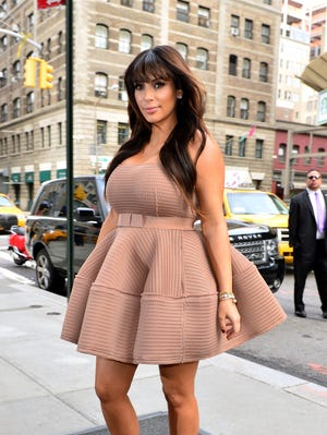 Kim Kardashian seen on the streets of Manhattan on March 26, 2013 in New York. On the August 25, 2013 episode of 'Keeping Up With the Kardashians,' Kim contemplates eating her own placenta.