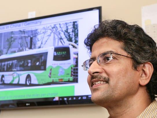 Nanomaterials lab team director Apparao Rao talks Wednesday