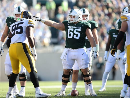 Brian Allen, a center from Michigan State, was selected with the 11th pick of the fourth round by the Rams.