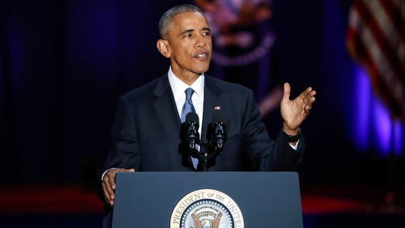 President Obama delivers his farewell address, Chicago,