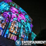 Hundreds of spectators lined both sides of Woodward as Dlectricity lit up Detroit's midtown area with 39 installations that turned a roughly one-mile stretch of the Woodward Corridor into a luminous urban wonderland on Friday, September 26, 2014.