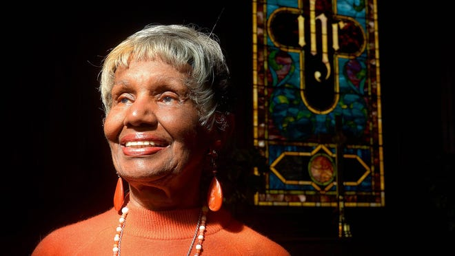 Dr. Dorothy Israel stands in St. Cyprian's Episcopal Church in St. Augustine.