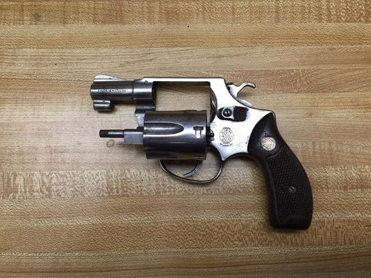 Salinas police recovered this revolver after a pursuit on Thursday night.