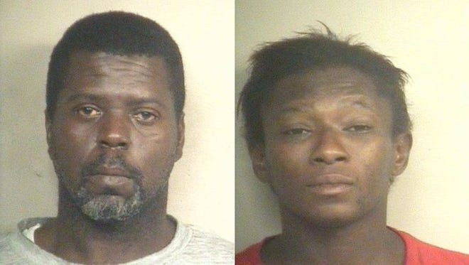 Carl Burse, pictured left, and Monique Green have been charged with bank robbery in connection to a Christmas Eve of the Trustmark bank on Terry Road.