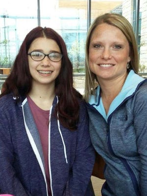 Pictured is Lacey Wendorff, right, with her Little, Morgan. Wendorff, a Big Sister for the BBBS of Fond du Lac County, was chosen as the Big of the Year by the local and state organization.
