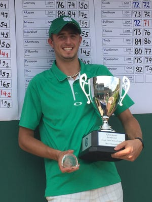 Parker Jamieson of Lansing won the Golf Association of Michigan Junior Invitational on Sunday at Forest Akers West.
