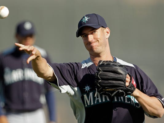 Matt Fox appeared in four games at the major league level in 2010. He spent last season in the Mariners system. (AP photo)