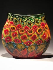 Blown glass by Jeremy Popelka of Popelka Trenchard Glass, one of the host sites taking part in the Sturgeon Bay Art Crawl from Nov. 17 to 19.