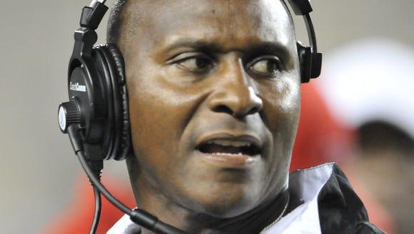 Former Alabama State football coach Reggie Barlow and