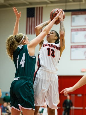 Aignee' Freeland (William Penn) continues to move up in the Edinboro University record book in women's basketball.