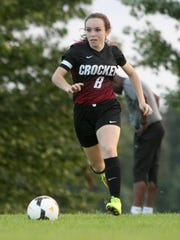 Crockett County's Jodi Butler (8) has helped the Lady Cavaliers to a 4-3 overall record thus far in the season.