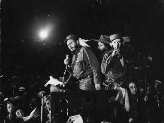 In this Jan. 8, 1959 file photo, Cuba's Fidel Castro