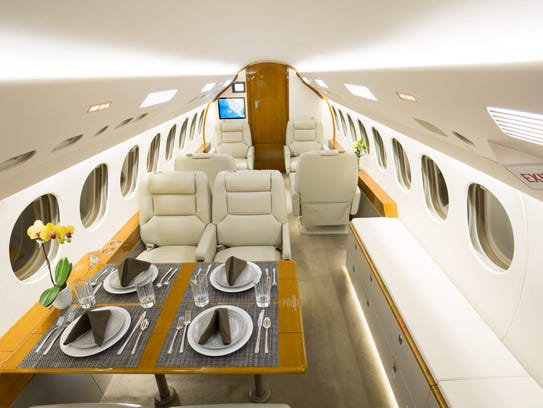 The 7X Falcon, a new addition to CI Jets' fleet at